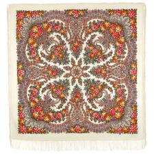 Schal Paisley Authentisch 100% Natürliche Wolle Russisch Blumen Folk-Stil Franse