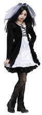 GIRLS ZOMBIE BRIDE COSTUME FANCY DRESS HALLOWEEN VAMPIRE OUTFIT & VEIL NEW 6-10