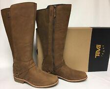 Teva DE LA Vina Dos Tall Boots Bison Delavina 1017143 Waterproof Leather sizes