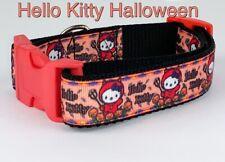 """Hello Kitty Halloween dog collar handmade adjustable buckle collar 1""""wide"""