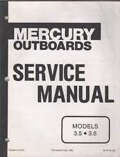 1984 MERCURY MARINER OUTBOARD 3.5 & 3.6 SERVICE MANUAL