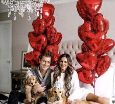 Folienballon Herzballon Rot groß Hochzeit Feste 40cm Hellium Party
