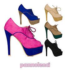 Scarpe donna stivaletti parigine francesine ankle boots tacchi alti A692-2