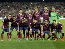 Barcelona FC Squad 2014 Valdes Pique Messi Neymar HUGE GIANT PRINT POSTER
