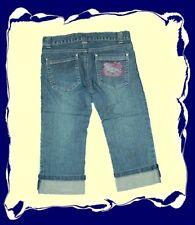 TRENDY 7/8 Jeans HELLO KITTY mit Strass Sommerhose 116-152 NEU