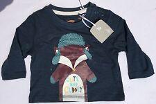 Baby Boy Long Sleeve Dark Grey T Shirt with Fox & 'Cute and Cuddly' detail