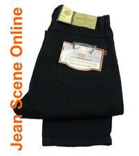New Men's Boston Regular Fit Jeans Straight Leg Black Denim Pants All Sizes