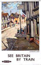 British Rail Lavenham Suffolk Railway Poster A3 Print