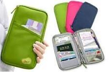 Travel Wallet With Full Closure Zip Document Organiser Passport Ticket Holder