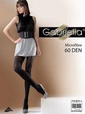 Microfibre 60 Den Collant Chocolat, Noir ou Anthracite Gabriella