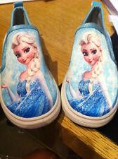 Frozen  Canvas Shoes Blue/Green Slip-on Flat Platform girls