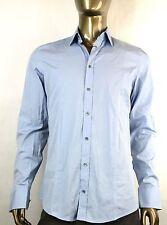 New Auth Gucci Mens Slim Cotton Button-Down Dress Shirt  Blue 179349 4910