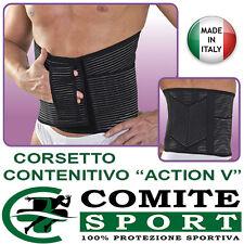 "Corsetto Contenitivo ""Action V"" Tipo Gibaud, Fascia Lombare Unisex MADE IN ITALY"