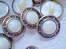 4 Knöpfe Perlmuttimitat in Metallfassung düğmeler кнопки gombok nasturi