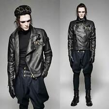 PUNK RAVE Sky Captain Jacket Steampunk Leder Fake Leather Moto Jacket GOTHIC