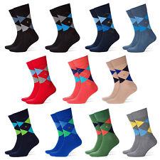 Burlington Herren Socken, KING, One Size 40-46, Rautenmuster, Labeling Clip