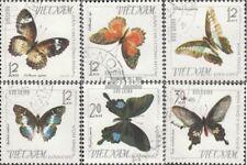 Vietnam 405-410 (kompl.Ausg.) gestempelt 1965 Schmetterlinge EUR 3