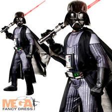 Super Deluxe Darth Vader Boys Fancy Dress Villano De Star Wars Kids CHILDS DISFRAZ