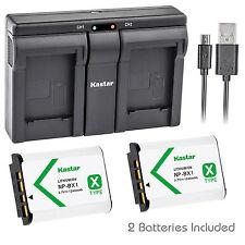 Kastar NP-BX1 Battery Charger for Sony Cyber-shot DSC-HX50V HX300 DSC-RX1 RX1R