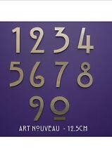 Jugendstil - Mackintosh - Edelstahl Haus Nummern/Ziffern 12.5cm/12.7cm