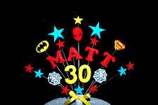 TOUT NOM,âge SUPER-HÉROS DÉCORATION DE GÂTEAU D'ANNIVERSAIRE spiderman,batman,