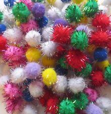 Oropel/brillo CRAFT Pompones-Mezcla De Colores-varios tamaños y quantaities