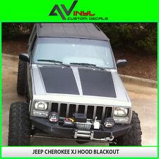 Hood Blackout Decal Fit Jeep Cherokee XJ 84-01 Matte Black w/ install kit