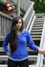 Metis Sweater Etchiboy Chandail Blue Bleu Alpaca Wool Laine Bell Shape XS-XL