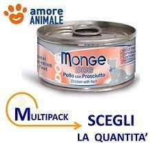 MULTIPACK Monge Dog Natural Pollo con Prosciutto 95 gr  Cibo umido per cane cani