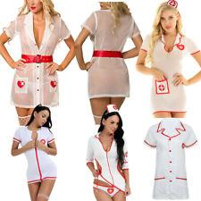 Sexy Women's Doctor Nurse Lingerie Costume Uniform Cosplay Outfits Fancy Dress