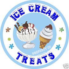 """Ice Cream Sundaes Cones Decal 14"""" Sundae Concession Food Truck Vinyl Sticker"""
