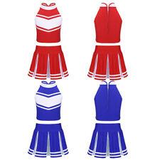 Kids Girls Cheerleader Costume Cheerleading Uniform School Performance Outfit