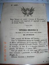 REGIO DECRETO 1869 COMUNI TORNAVENTO e S. ANTONINO SOPPRESSI aggr LONATE POZZOLO