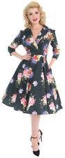 Hearts & Roses STARDUST FLORAL Peony Flower DRESS Swing Kleid Rockabilly