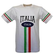 T-SHIRT MAGLIA MAGLIETTA ITALIA 2016 BIANCA CON STAMPA XS, S, M, L, XL, XXL