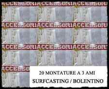 20 lenze pronte 3 ami pesca bolentino surfcasting surf casting barca mare tp