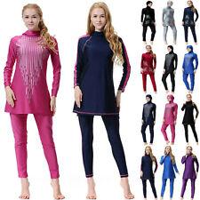 Damen Muslim Islamisch Modest Bademode Voll Hülle Badeanzug Burkini Beachwear 44