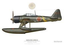 Print A6M2-N Rufe, Hidenori Matsunaga, 934 Kokutai, late 1943 (by D. Douglass)