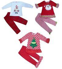 Noël Fille Vêtements Bébé Tenue Costume Haut et Leggings Set 6 mois - 6 ans