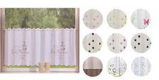 Voile Scheiben Gardine transparent mit Stickerei -42002-