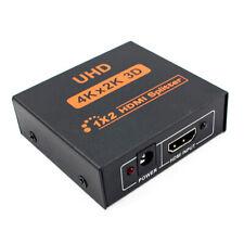 Full HD HDMI Splitter 1X2 2 Port Repeater Amplifier v1.4 3D 1080p 1 in 2 out Hub