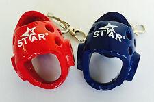 Taekwondo Mini Headgear with Key Chain TKD Souvenir Gift promotion Toy Acce