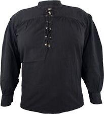 Piratenhemd Oldstylehemd mit Stehkragen, vorn geschnürt, in 2 Farben