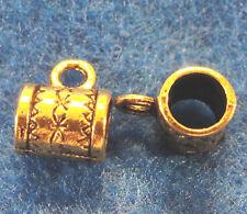 10Pcs Tibetan Antique Gold BAILS Large Pendant or Charm Connectors Findings BA04