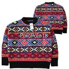 New $398 Polo Ralph Lauren Women Wool Cashmere Fair Isle Sweater S M L XL