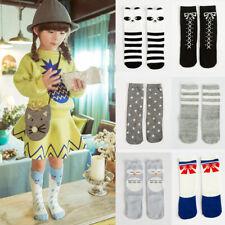 Fashion Cotton Socks Children Girls Cartoon Animals Knee High Hosiery Stocking