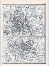 1912 MAP ~ nei dintorni di Parigi Vienna & Roma