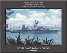 USS Richard B Anderson DD 786 Personalized Canvas Ship Photo Print Navy Veteran