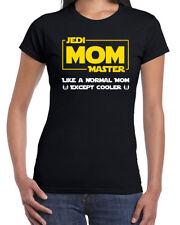 667 Jedi Mom Master Womens T-shirt cosplay geek nerd star light saber wars new