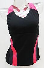 Speedo Party Pink Colorblock Tankini Top Swimsuit Women's 6,8,10 #723028K